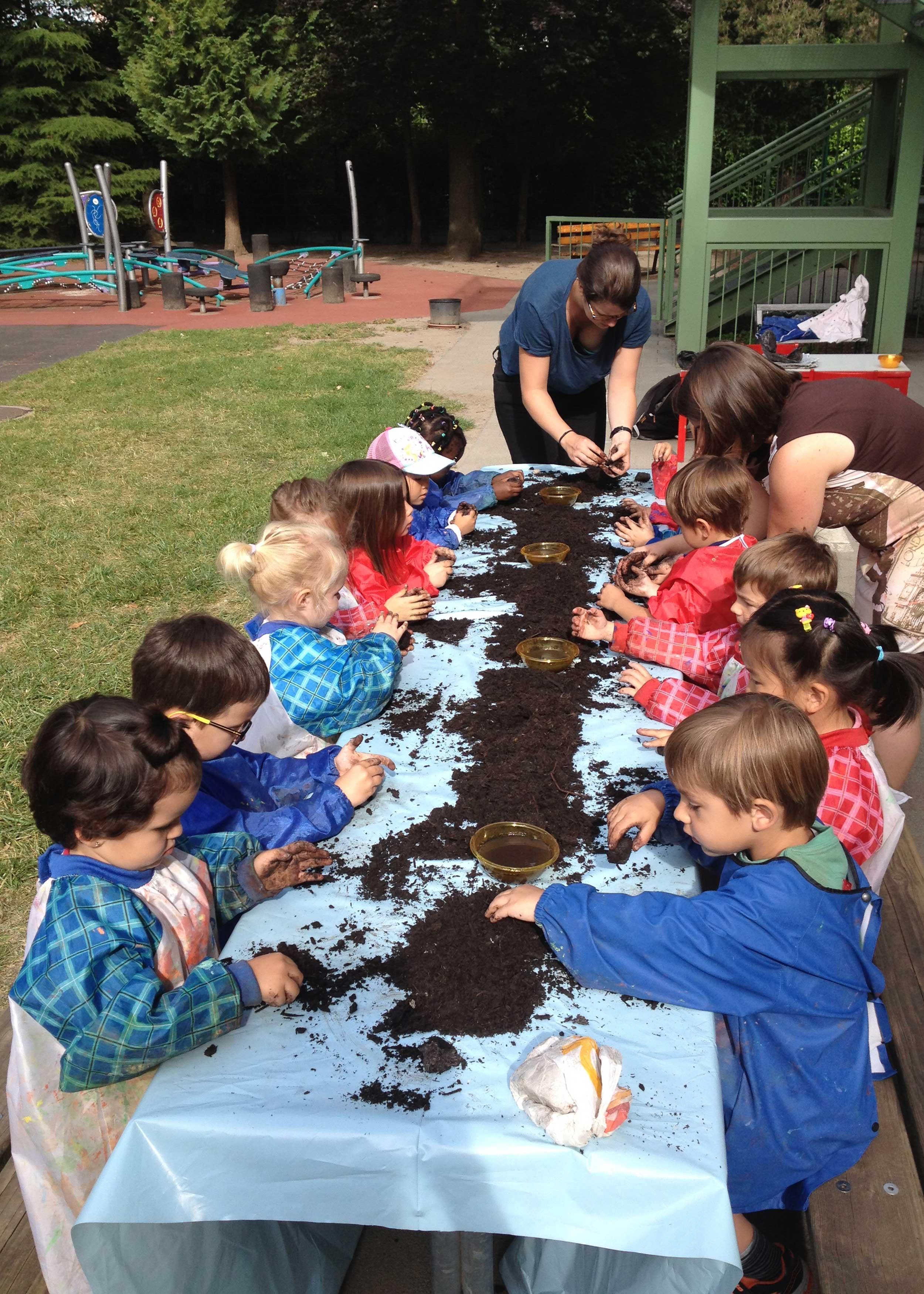 Atelier boules à graines