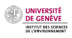 Logo UNIGE faculté des sciences de l'environnement